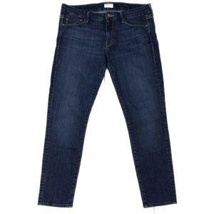 MOTHER Dark Wash The Looker Crop Skinny Jeans